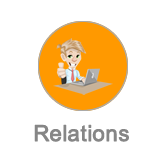 Relations button