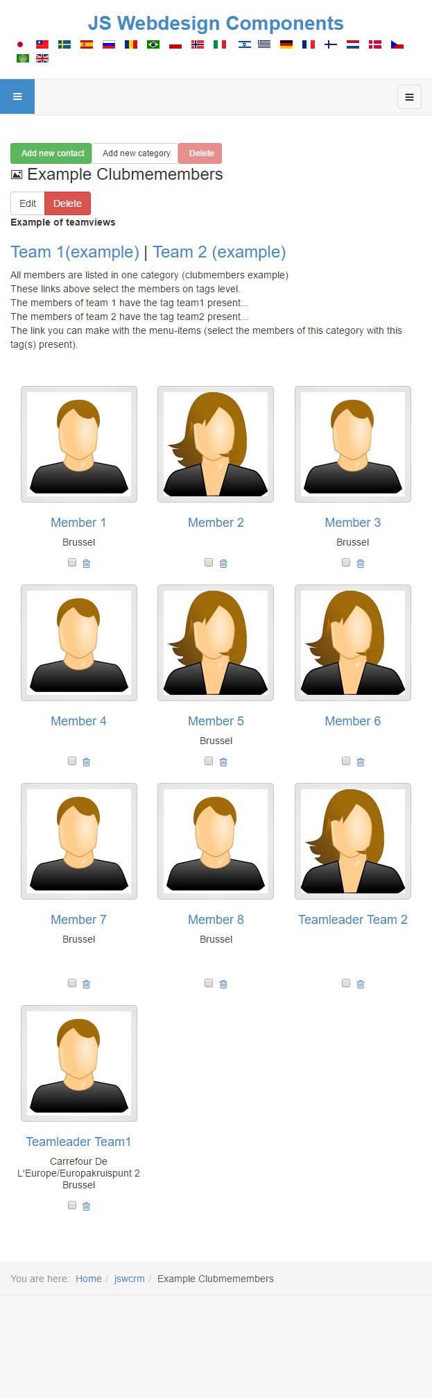 Smartphone membersview