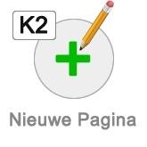 K2 nieuwe pagina button