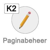 K2 paginabeheer button