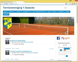 Responsive website Tennisvereniging 't Swaecke
